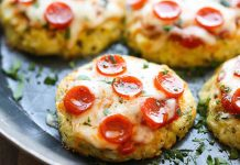 Mini pizzas de coliflor