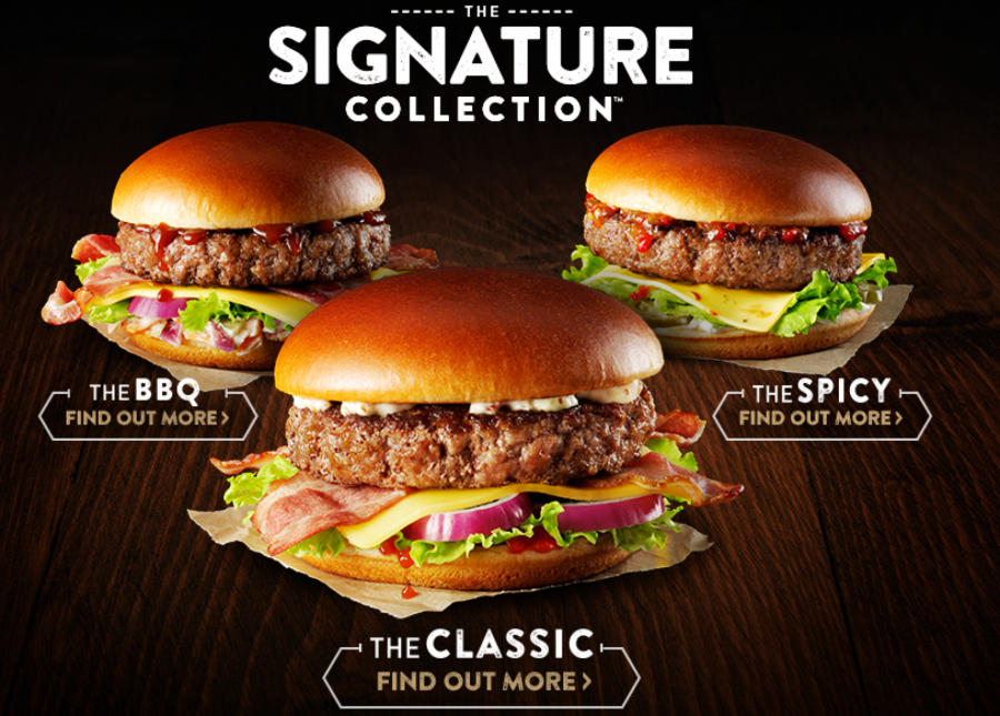 cajas Signature Collection hamburguesas