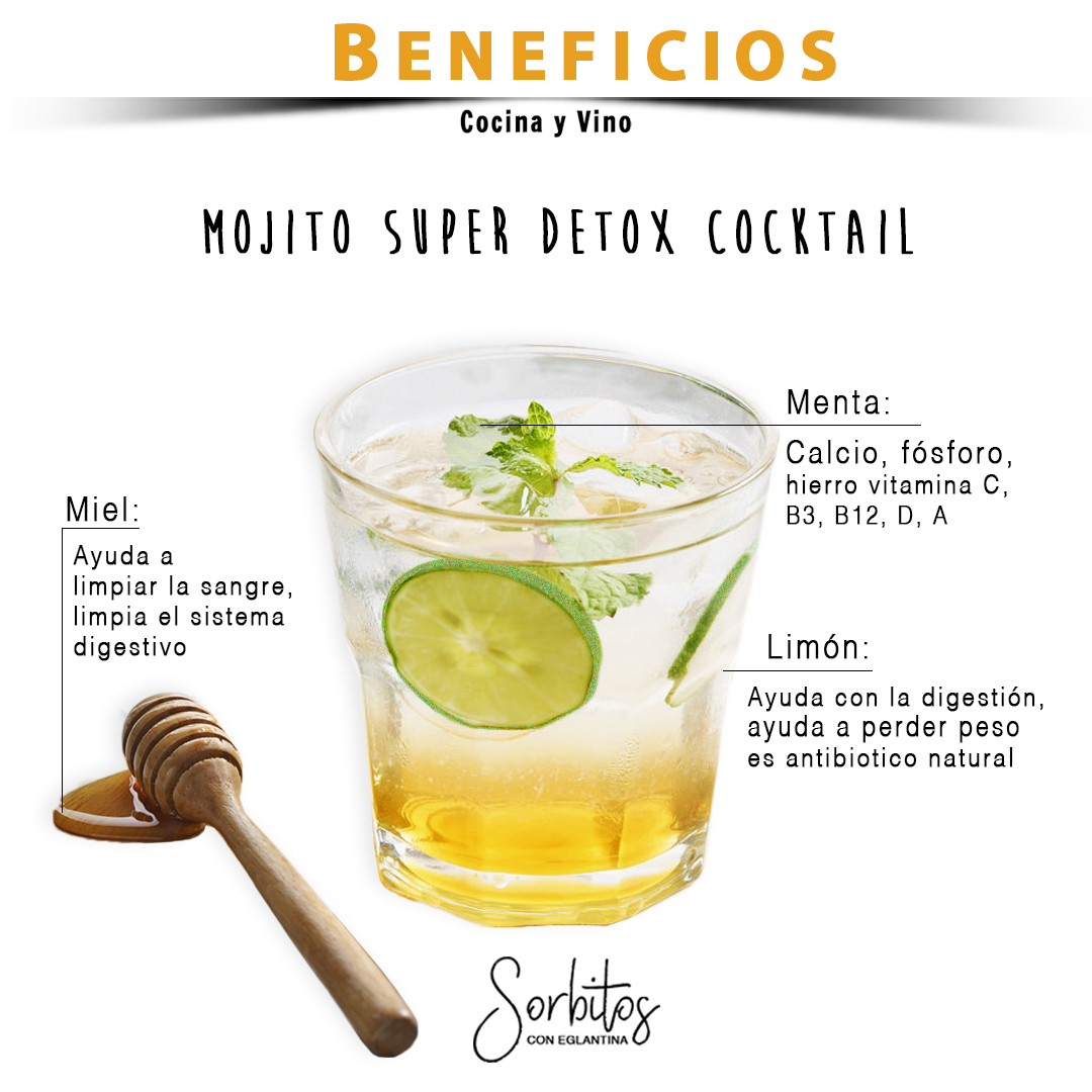 beneficios Mojito Super Detox Cocktail