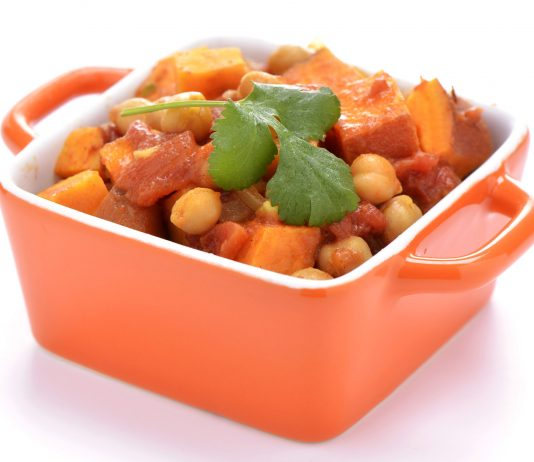 Curry de batata y garbanzos de Atul Kocchar