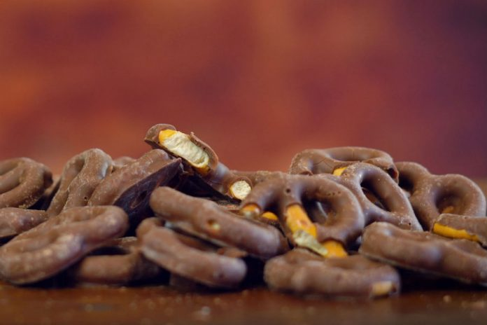 Pretzels con chocolate
